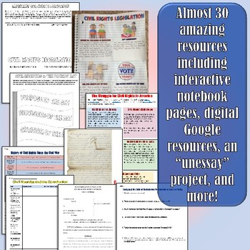 Civil Liberties & Civil Rights Unit Bundle