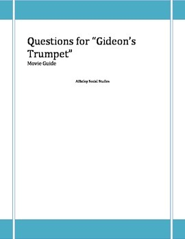 Civil Liberties-Gideon's Trumpet Video Guide