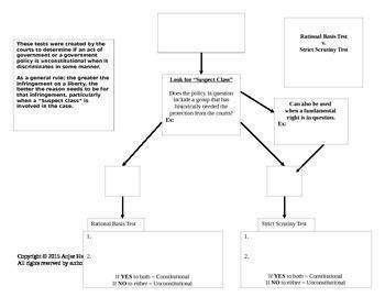 Civil Liberties-Strict Scrutiny Test Graphic Organizer