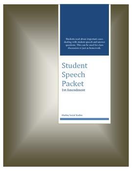 Civil Liberties Student Speech Packet