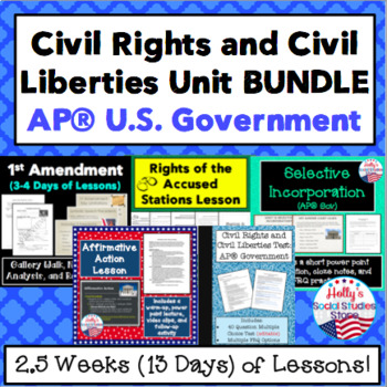 Civil Liberties and Civil Rights BUNDLE for AP® U.S. Government