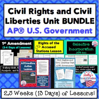 Civil Liberties and Civil Rights Unit BUNDLE for AP® U.S. Government