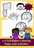 Civil Right Coloring and Activity Pages