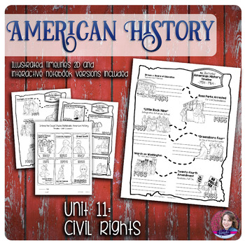Civil Right Illustrated Timelines - US History