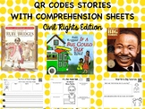 Civil Right Leaders QR Codes with Comprehension Sheets