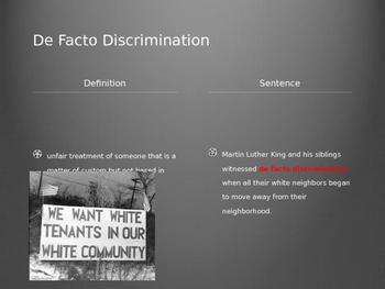 Civil Right Movement Vocabulary