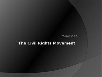 Civil Right Vocabulary