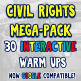 Civil Rights 30 DBQ Warm Ups Bellringers Distance Learning
