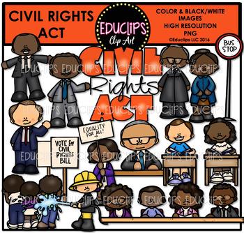 Civil Rights Act Clip Art Bundle  {Educlips Clipart}