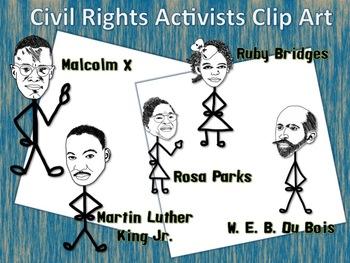 Civil Rights Activist Clip Art