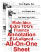 Civil Rights Acts 5 Levels Info Text Main Idea Fluency TDQs ALL-ON-ONE SHEET