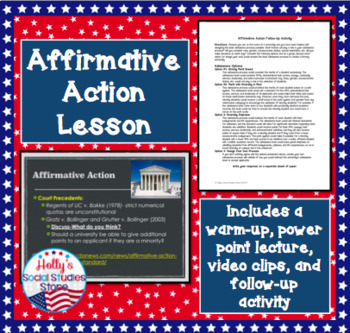 Civil Rights: Affirmative Action Lesson