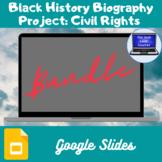 Black History Biography Project: Civil Rights Bundle (Google Slides)