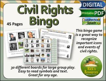 Civil Rights Bingo Game