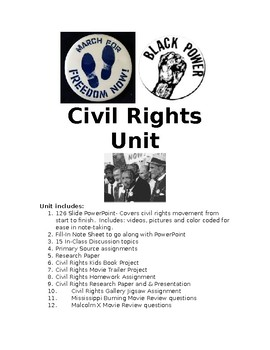 Civil Rights Bundled Unit