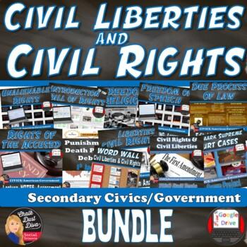 Civil Rights – Civil Liberties BUNDLE (CIVICS) Grades 8-12
