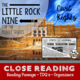 Black History Reading Passage - The Little Rock Nine Close Reading