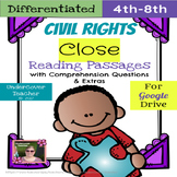 Civil Rights Close Reading Passages (Differentiated) - Digital, Paperless