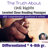Civil Rights Close Reading Passages (Differentiated)
