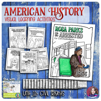 Civil Rights Coloring Activities - US History