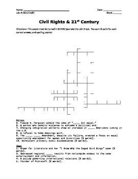 Civil Rights Crossword