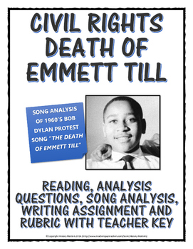 Essays About Art Civil Rights  Death Of Emmett Till Reading Song Analysis Assignment  Etc Mba Application Essay Examples also Essay My Friend Civil Rights  Death Of Emmett Till Reading Song Analysis  Internet Essays