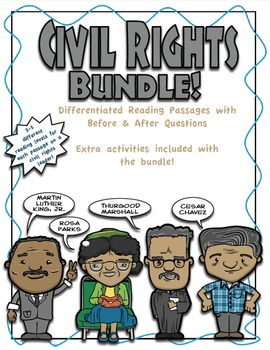 Civil Rights Differentiated Reading **BUNDLE**