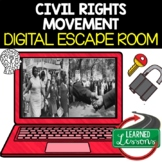Civil Rights Digital Escape Room, Breakout Room, Activity Pages No Prep