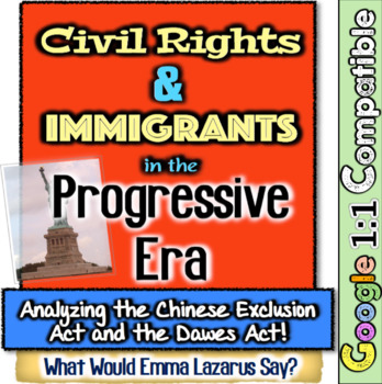 Emma Lazarus & Civil Rights in Progressive Era! Dawes Act & Chinese Exclusion!
