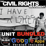 Civil Rights Movement Unit: PPTs, Worksheets, Kahoot & Test + Distance Learning
