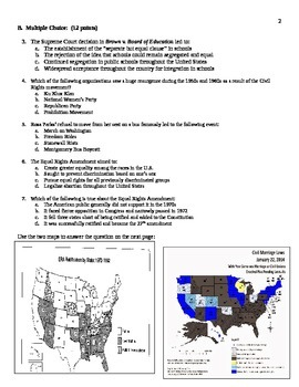 Civil Rights Era Assessment