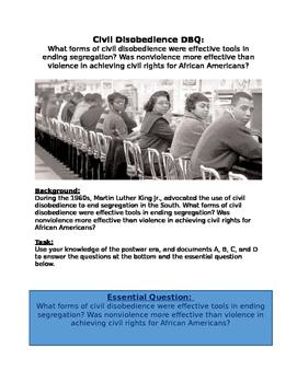 Civil Rights Era DBQ: Was Non-violent more successful than violence?