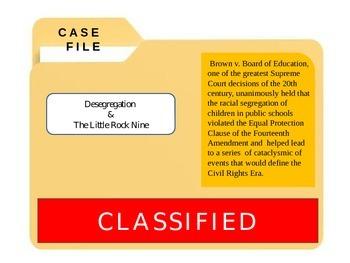 """Civil Rights Era: Desegregation and the """"Little Rock Nine"""" CSI"""