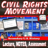 Civil Rights Movement Lecture Power Point with CLOZE Notes (U.S. History)