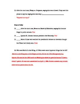 Civil Rights Era Quiz