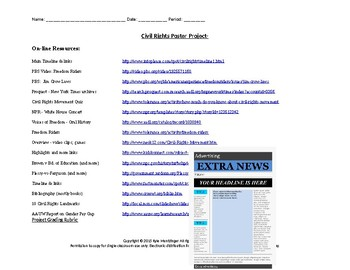 Civil Rights Front Page Newspaper Project