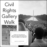 Civil Rights Movement Gallery Walk, Ready-to-Print Activity for ELA & US History