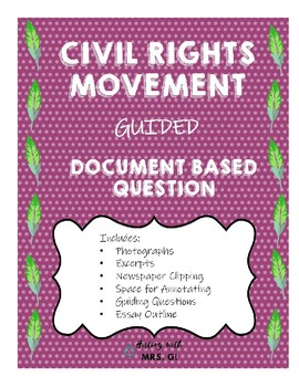 Civil Rights Guided DBQ - SS8H11b