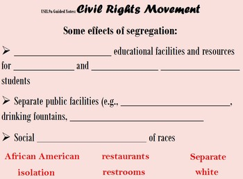 Civil Rights Guided Notes Flipchart