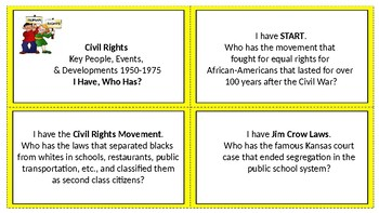 Civil Rights I Have, Who Has?