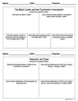 Civil Rights - Interactive Note-taking Activities