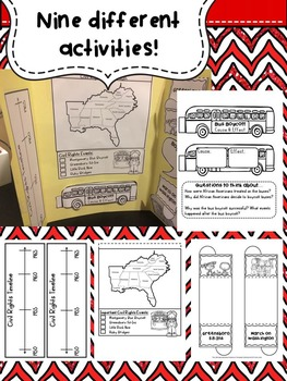 Civil Rights Lapbook & Interactive Notebook Pages