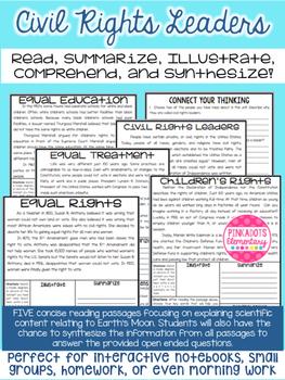 Civil Rights Leaders: Social Studies Articles w/ Paired Te