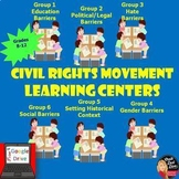 Civil Rights Movement Learning Centers Activity (Print and Digital) U.S. History