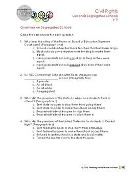 Civil Rights Lesson 5 - Segregated Schools