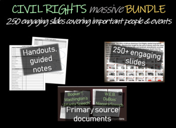 Civil Rights MASSIVE BUNDLE (20 PPTs, Documents and other sources)