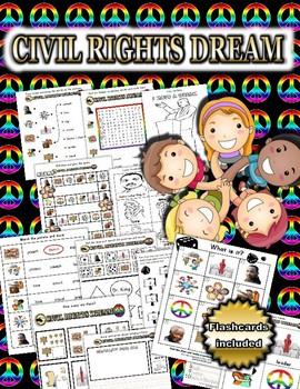 Civil Rights / MLK Day Activity Set + Flashcards