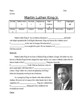 Civil Rights: Martin Luther King Jr.