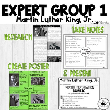 Black History-Martin Luther King Jr., Ruby Bridges, Rosa Parks, Jackie Robinson