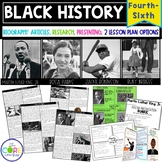 Black History- Martin Luther King Jr., Ruby Bridges, Rosa Parks, Jackie Robinson